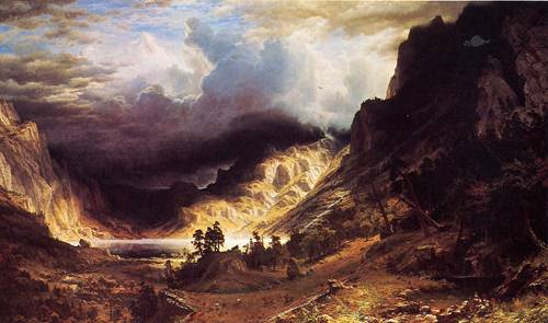 A Storm in the Rocky Mountains Mt Rosalie 1866