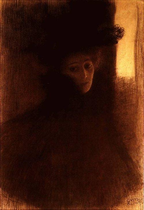 Dame mit Cape 1897-98