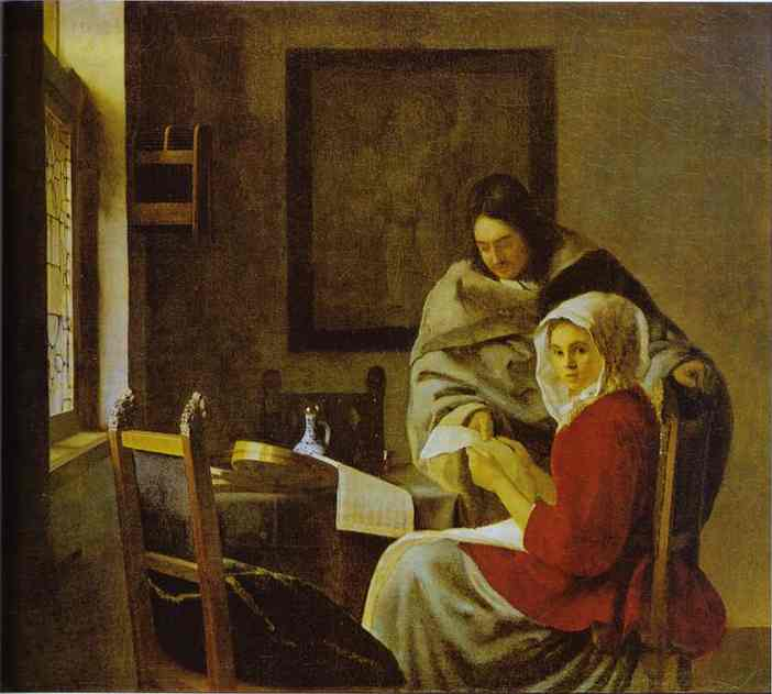 Girl Interrupted At Her Music 1660-1661 | Jan Vermeer | Oil Painting
