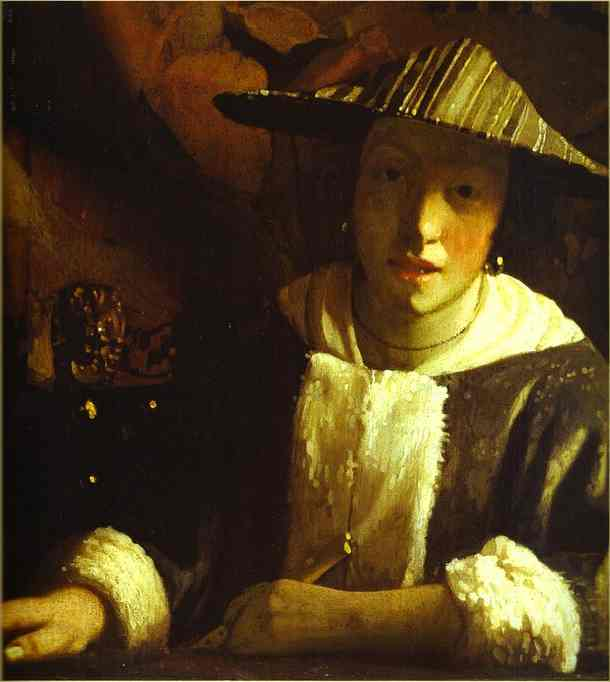 Girl With A Flute 1666-1667 | Jan Vermeer | Oil Painting