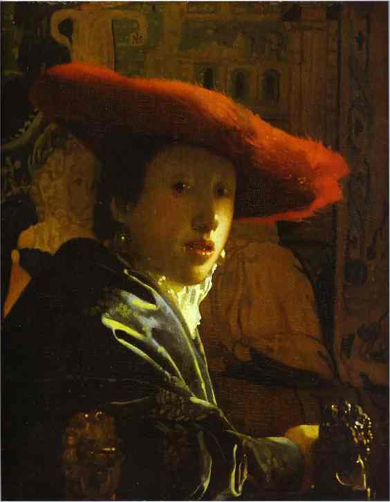 Girl With A Red Hat 1666-1667 | Jan Vermeer | Oil Painting