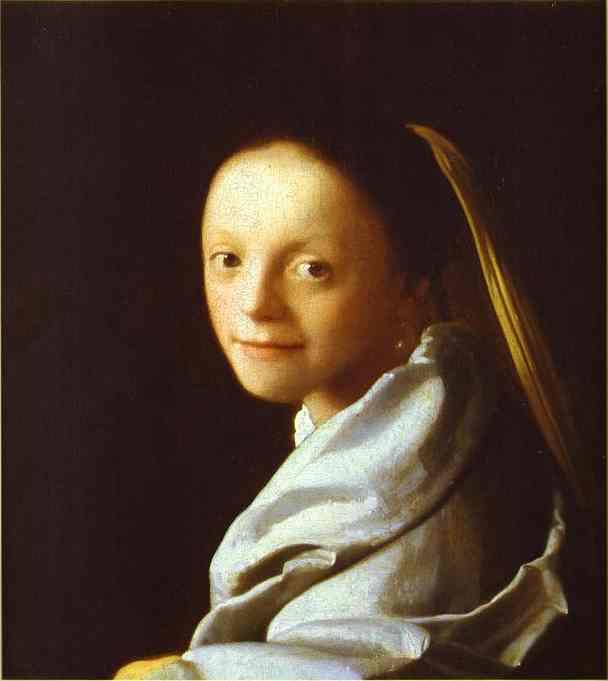 Head Of A Girl 1666-1667 | Jan Vermeer | Oil Painting
