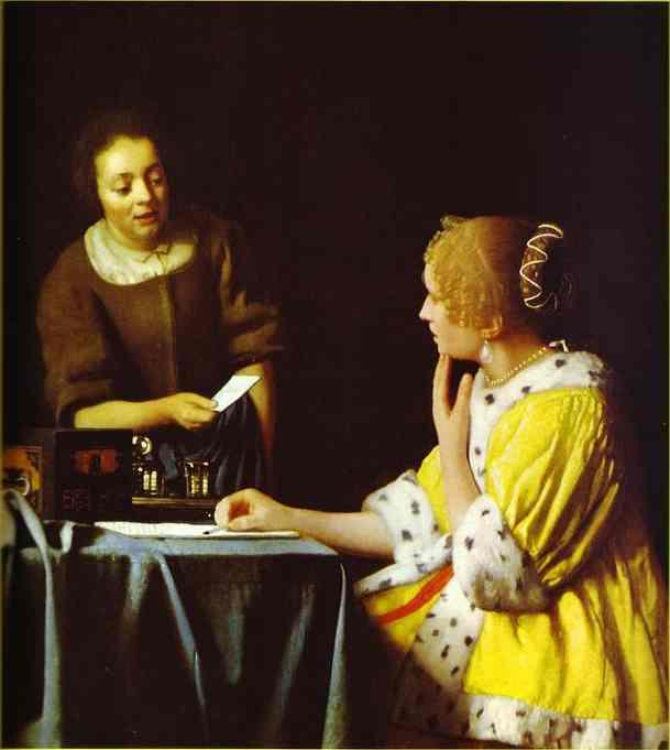 Lady Standing At A Virginal 1673-1675 | Jan Vermeer | Oil Painting