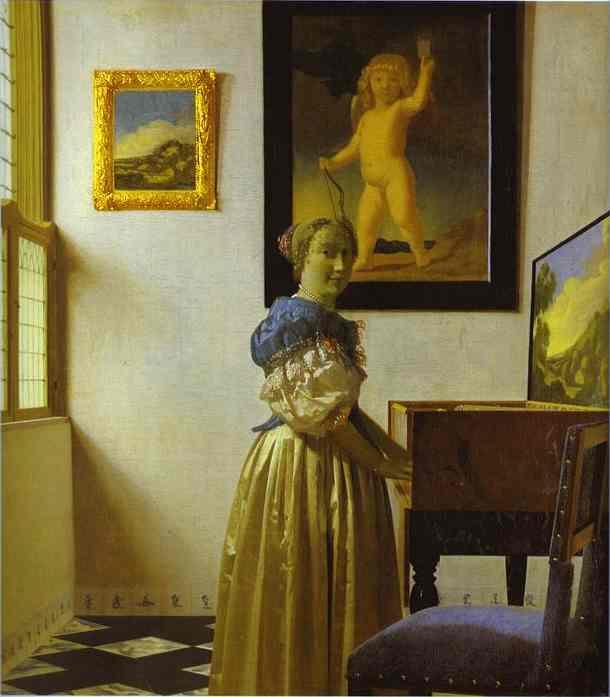Lady With Her Maidservant 1667-1668 | Jan Vermeer | Oil Painting