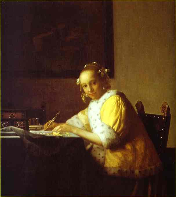 Lady Writing A Letter 1665-1670 | Jan Vermeer | Oil Painting