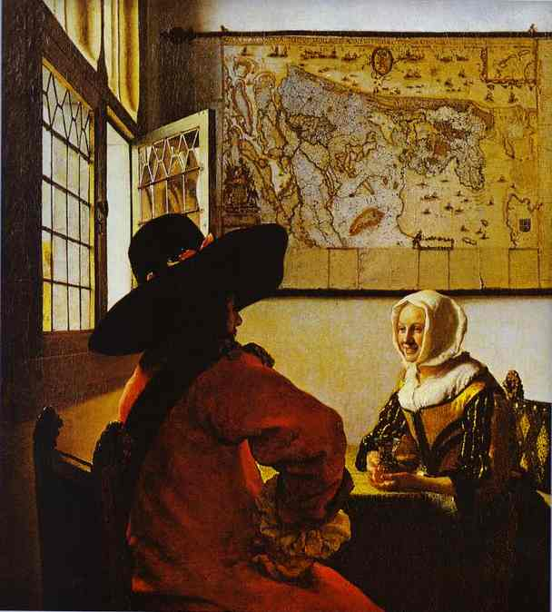 Soldier And A Laughing Girl1658 | Jan Vermeer | Oil Painting