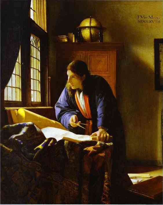 The Geographer 1668-1669 | Jan Vermeer | Oil Painting