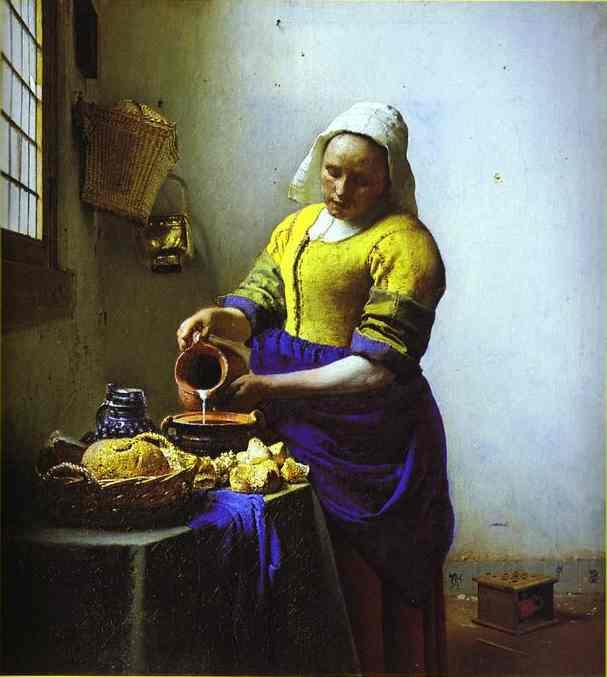 The Milkmaid 1658-1660 | Jan Vermeer | Oil Painting