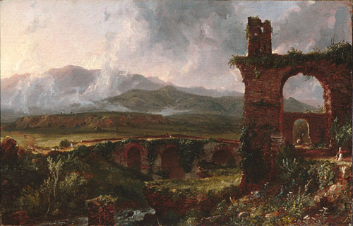 A View near Tivoli 1832   Thomas Cole   Oil Painting