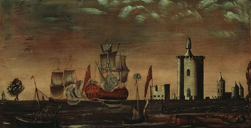 Seascape Fantasy 1770 1800   Unknown artist   Oil Painting