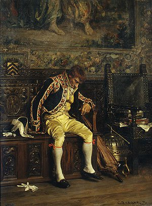 A Footman Sleeping 1871 | Charles Bargue | Oil Painting