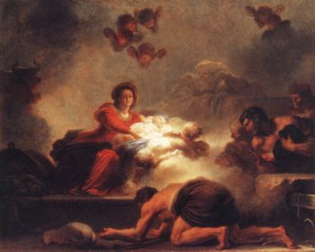Adoration Of The Shepherds 1775 | Jean Honore Fragonard | Oil Painting