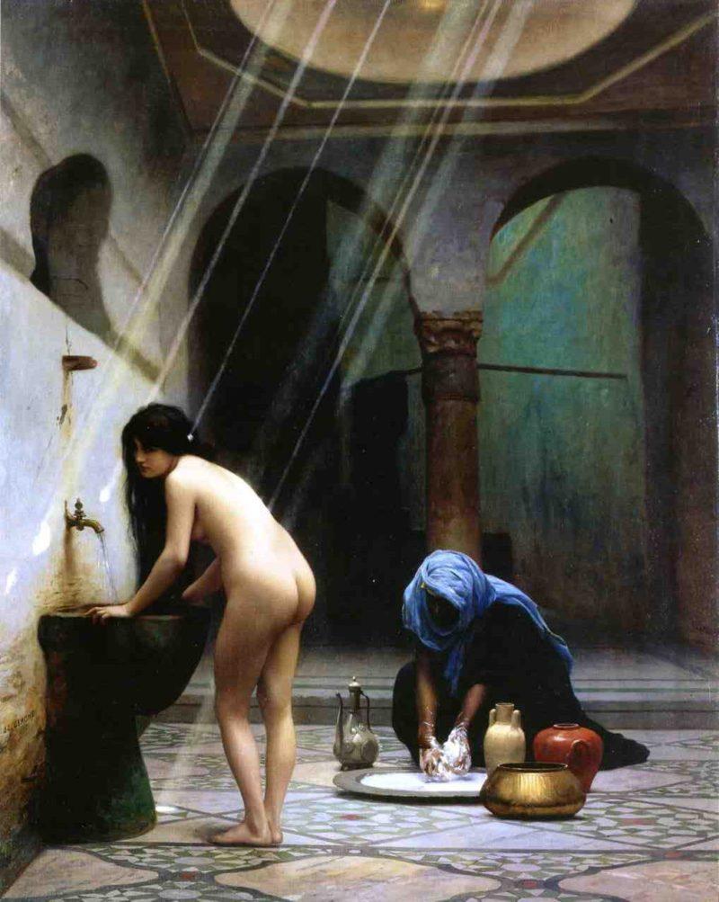 A Moorish Bath aka Turkish Woman Bathing 1870 | Jean Leon Gerome | Oil Painting