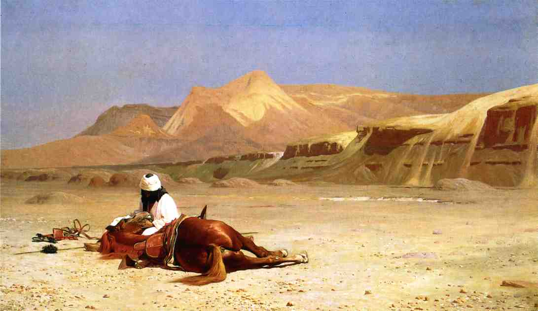 An Arab and His Horse in the Desert 1872 | Jean Leon Gerome | Oil Painting