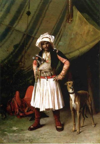 Bashi Bazouk and His Dog 1870 | Jean Leon Gerome | Oil Painting