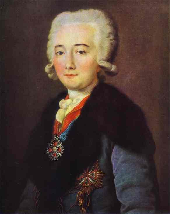 Portrait of Alexander Dmitryev Mamaonov 1780s | Mikhail Shibanov | Oil Painting