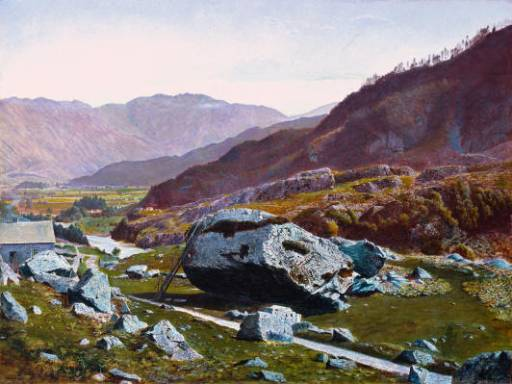 Bowder Stone Borrowdale | John Atkinson Grimshaw | Oil Painting