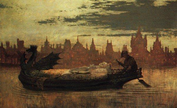 Elaine1 | John Atkinson Grimshaw | Oil Painting