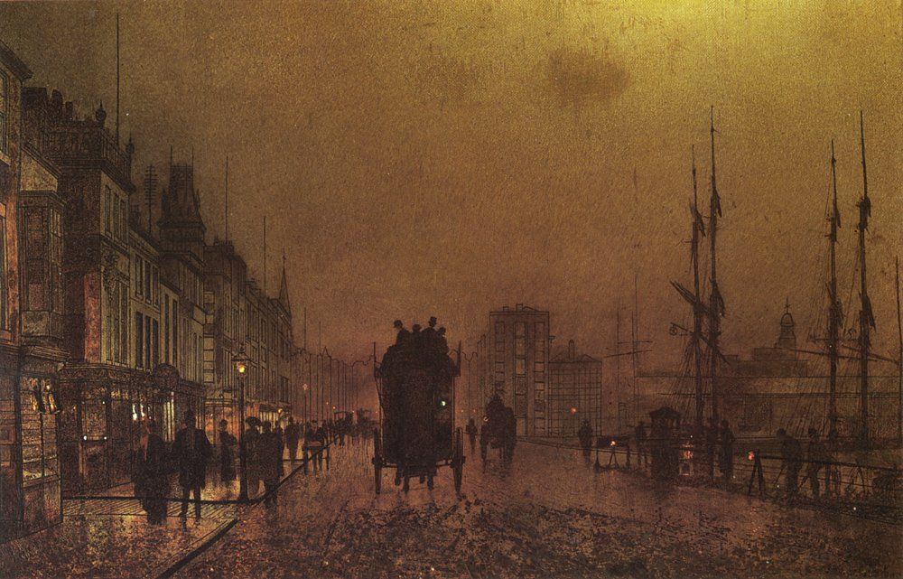 Glasgow Docks | John Atkinson Grimshaw | Oil Painting