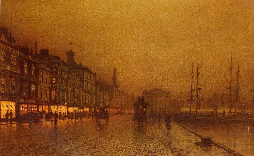 Greenock Dock   John Atkinson Grimshaw   Oil Painting