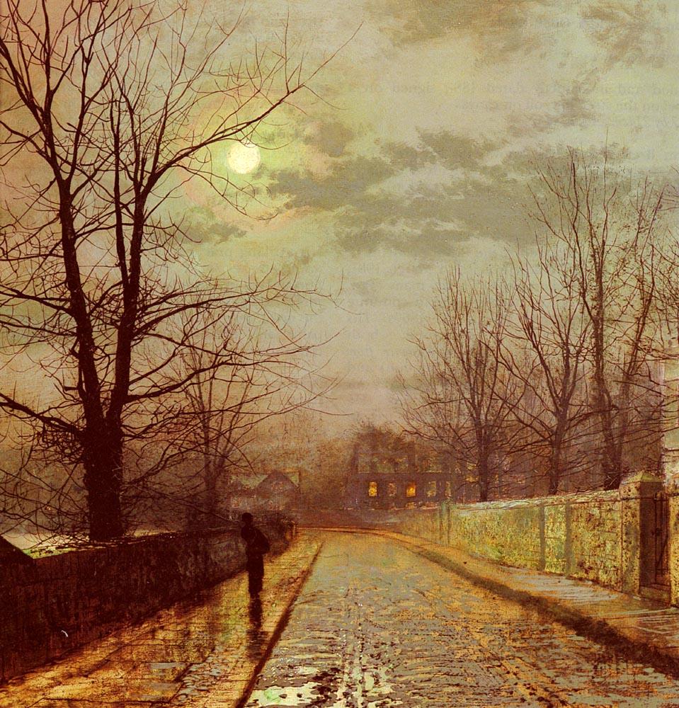 Lane In Cheshire   John Atkinson Grimshaw   Oil Painting