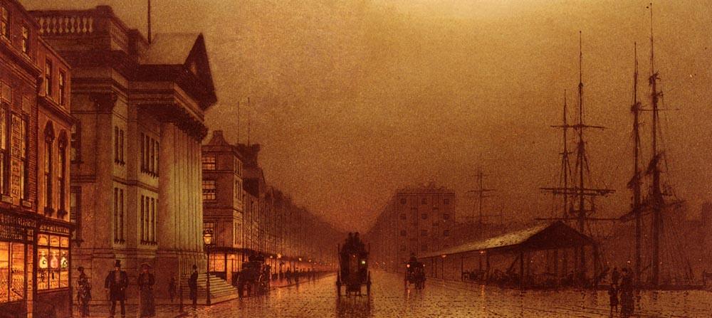 Liverpool Customs House   John Atkinson Grimshaw   Oil Painting