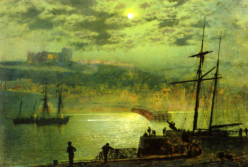 Whitby From Scotch Head   John Atkinson Grimshaw   Oil Painting