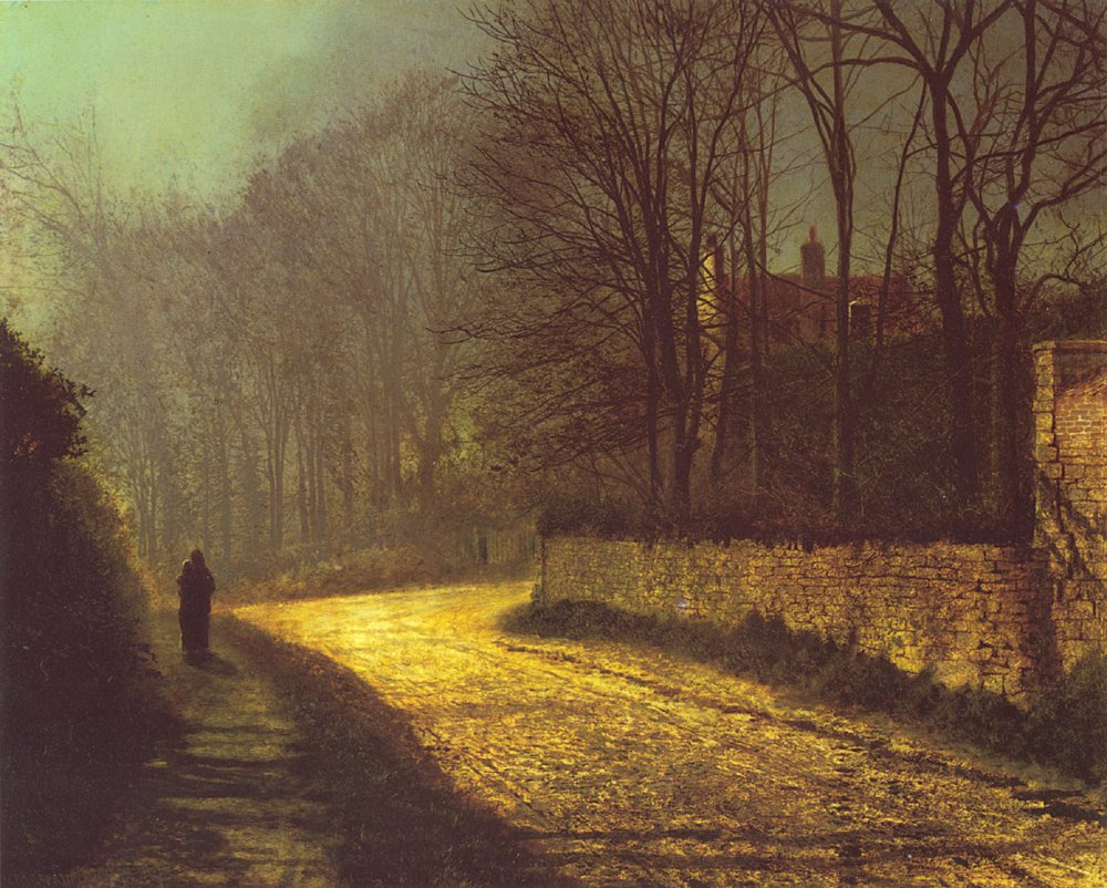 The Lovers   John Atkinson Grimshaw   Oil Painting