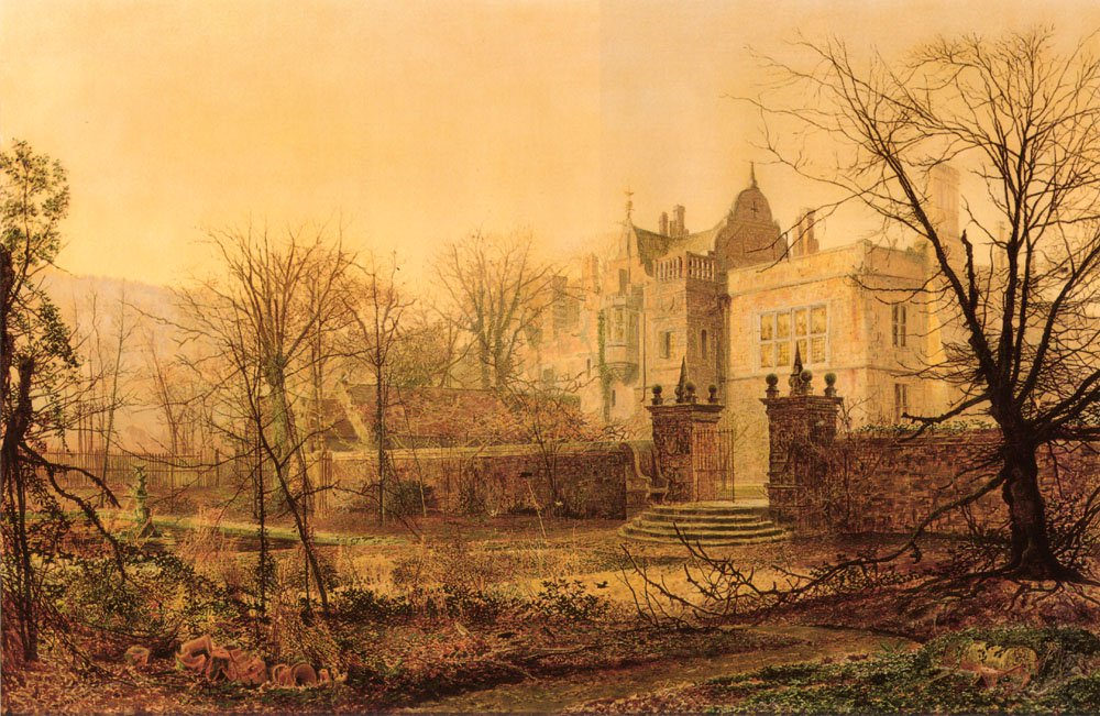 Knostrop Hall Early Morning   John Atkinson Grimshaw   Oil Painting