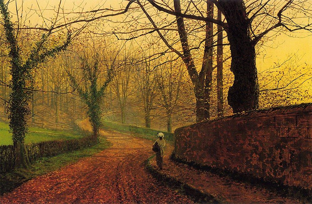 Stapleton Park near Pontefract   John Atkinson Grimshaw   Oil Painting