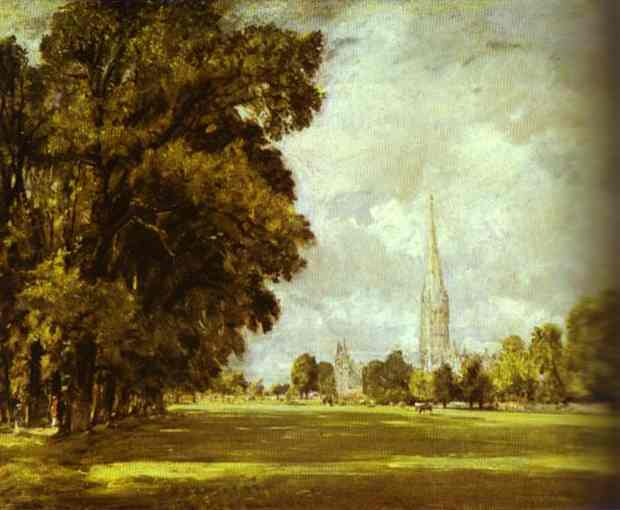 A View Of Salisbury Cathedral 1825 | John Constable | Oil Painting
