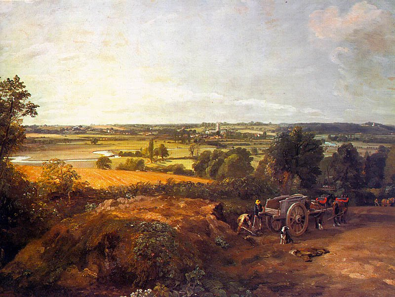 Stour Valley And Dedham Village 1814   John Constable   Oil Painting