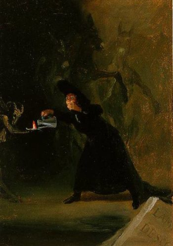 A Scene From El Hechizado Por Fuerza (The Forcily Bewitched) 1798 | Francisco De Goya | Oil Painting