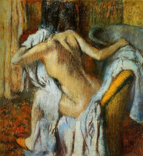 After The Bath Woman Drying Herself 1888-1892 | Hilaire-Germain-Edgar Degas | Oil Painting