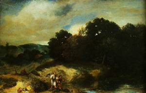 A Landscape With Tobias And The Angel 1640-1644 | Jan Lievens | Oil Painting
