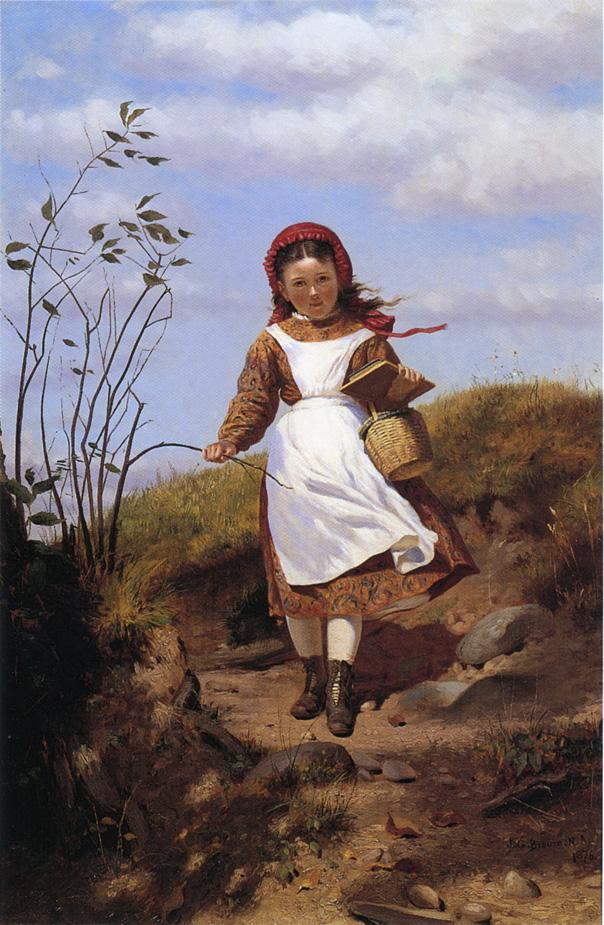 A Breezy Morning 1876 | John George Brown | Oil Painting