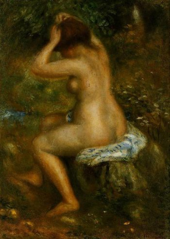 A Bather 1885-1890 | Pierre-Auguste Renoir | Oil Painting