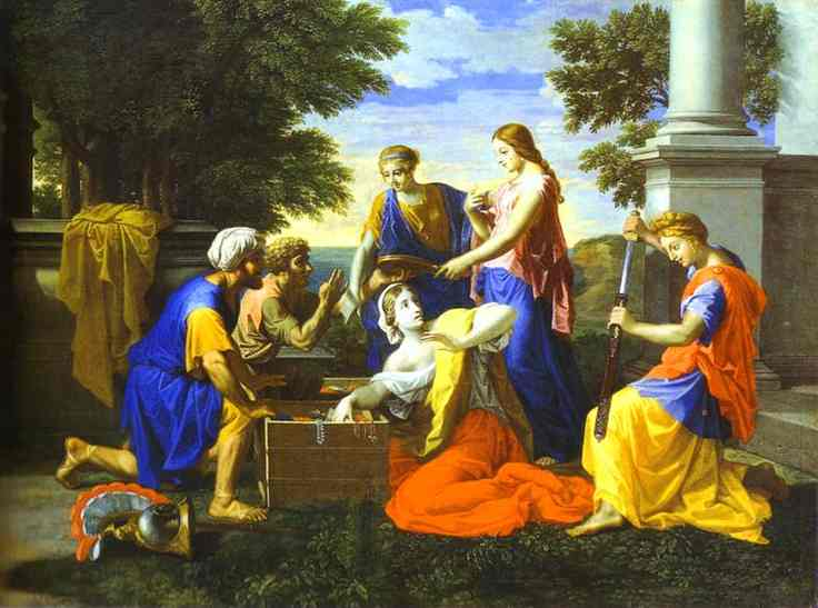Achilles And Daughters Of Lycomede 2 1656   Nicolas Poussin   Oil Painting