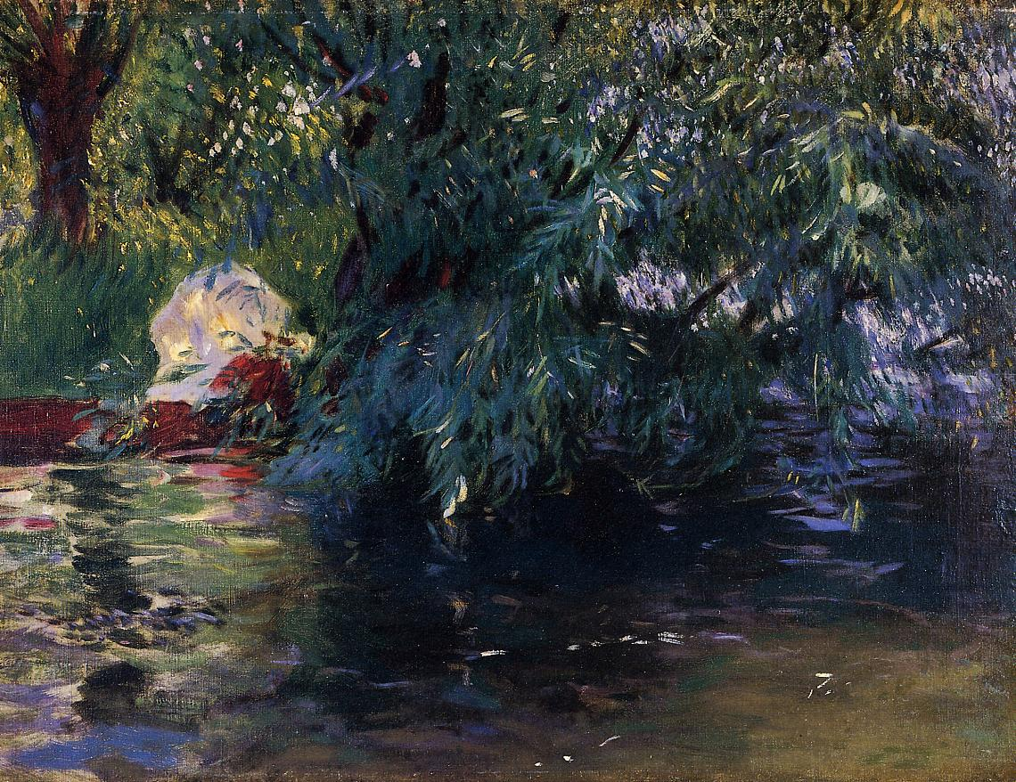 A Backwater Calcot Mill near Reading 1888 | John Singer Sargent | Oil Painting