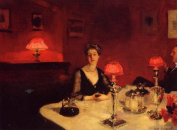 A Dinner Table at Night 1884 | John Singer Sargent | Oil Painting