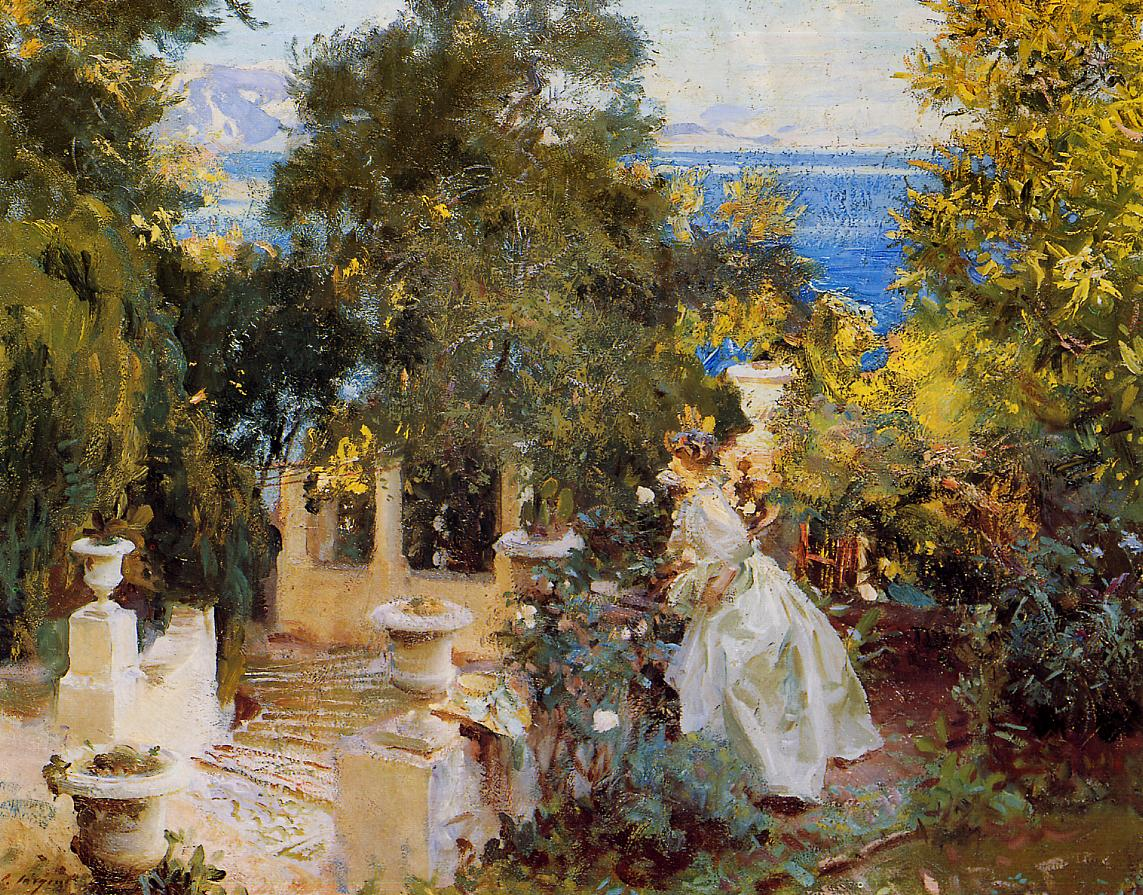 A Garden in Cofru 1909 | John Singer Sargent | Oil Painting