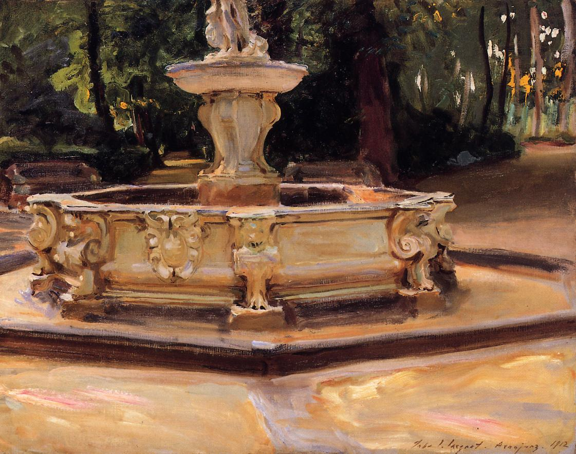 A Marble Fountain at Aranjuez Spain 1912 | John Singer Sargent | Oil Painting
