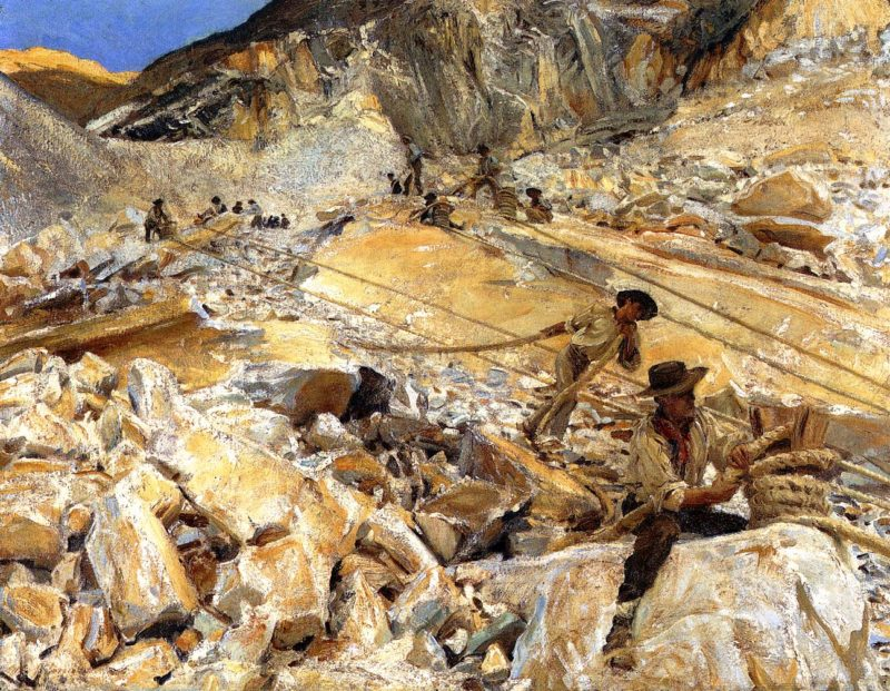 Bringing Down Marble from the Quarries to Carrara 1911 | John Singer Sargent | Oil Painting