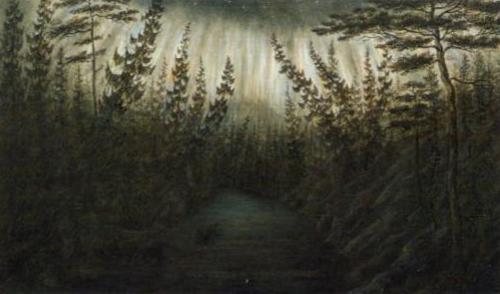 Northern Lights (Aurore boreale)   Ander Fredrik Skjoldebrand   Oil Painting