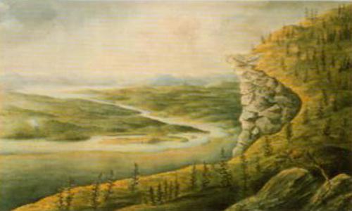 View from Avasaxa   Ander Fredrik Skjoldebrand   Oil Painting