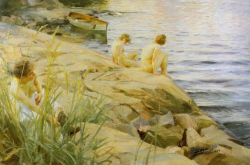 Outdoors 1888   Anders Zorn   Oil Painting