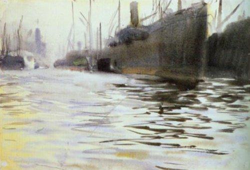 Port of Hanburg 1891   Anders Zorn   Oil Painting