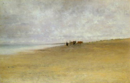 Mist By The Sea   August Hagborg   Oil Painting