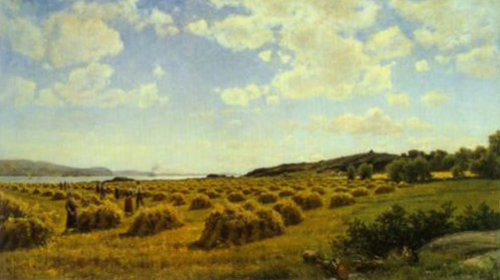Oat Harvest 1878   Berndt Lindholm   Oil Painting
