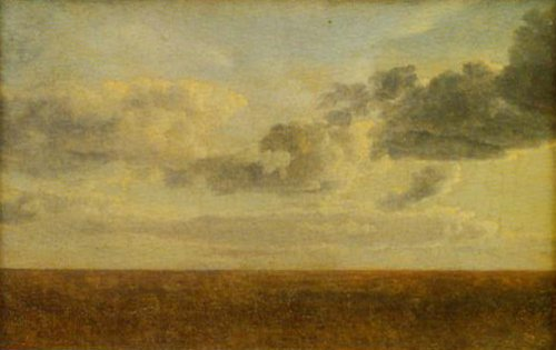 Study of Clouds over the Sea   C.w.Eckersberg   Oil Painting